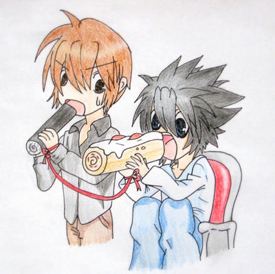 death note light and l chibi - photo #10