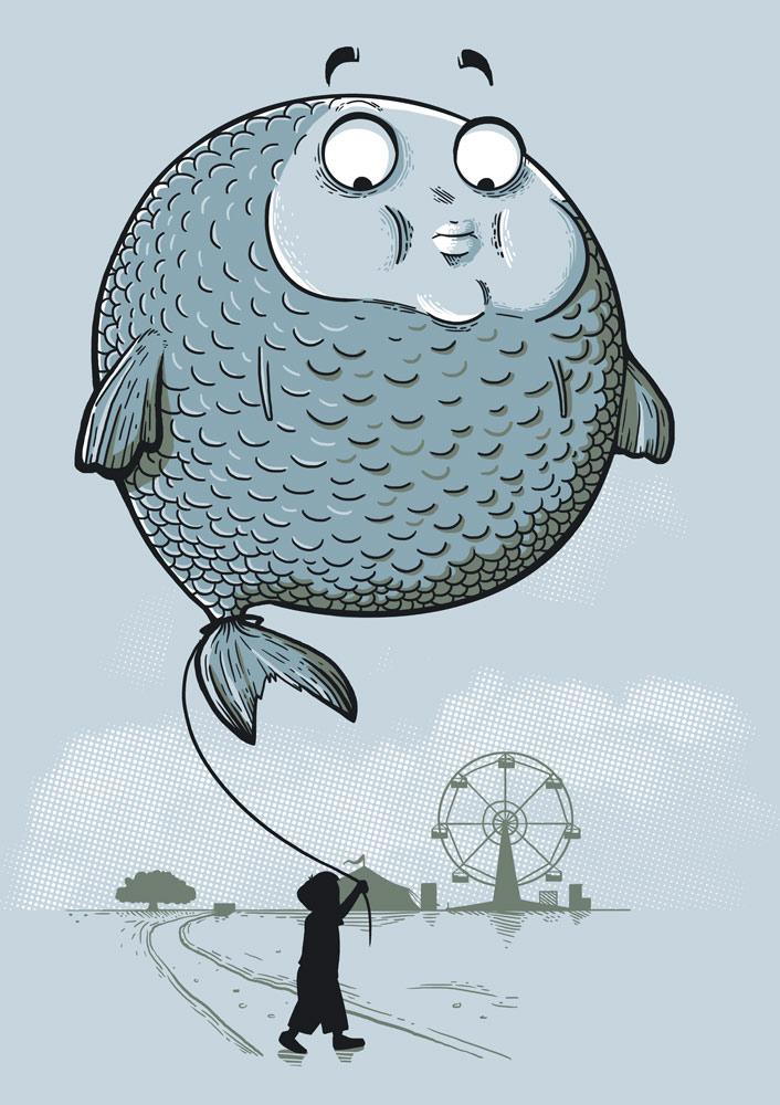 Balloon Fish by Naolito