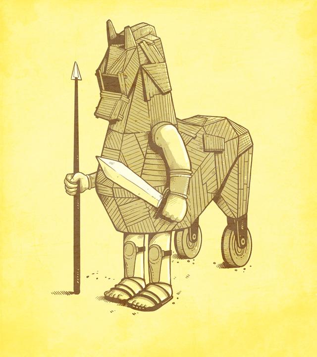 Trojan horse by Naolito