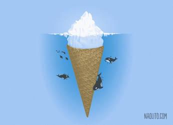 Hidden part of icebergs