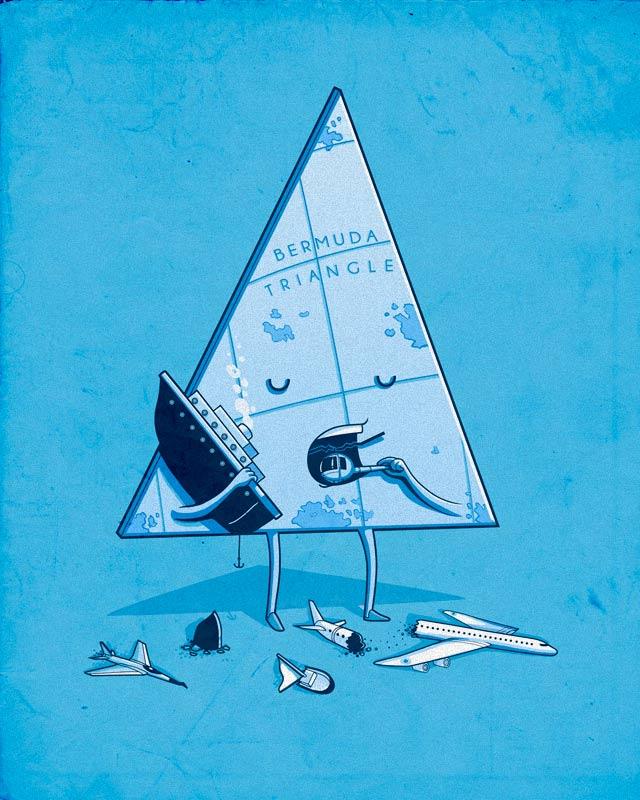 Bermuda triangle by Naolito