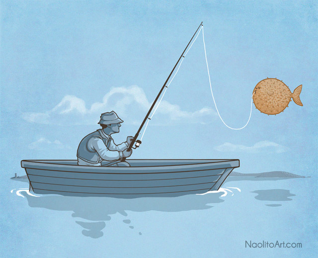 Balloon fish by Naolito