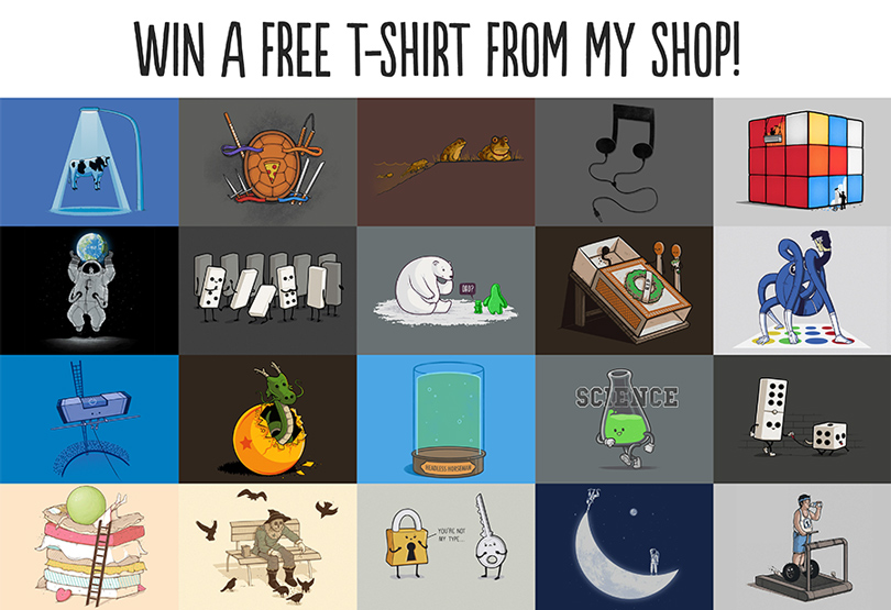 Win a Free t-shirt! by Naolito
