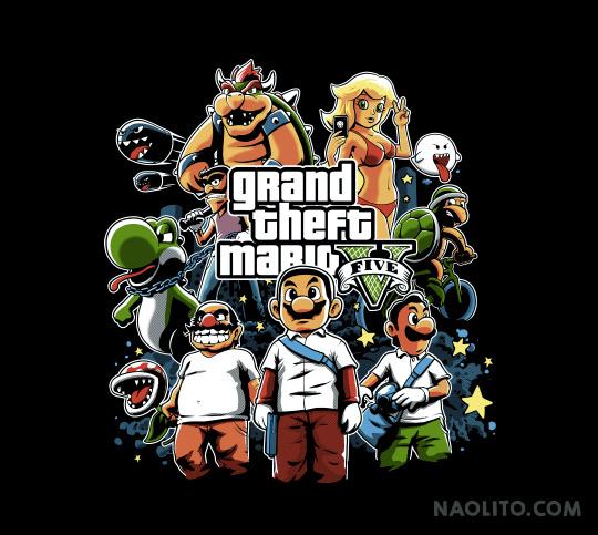 Grand Theft Mario by Naolito