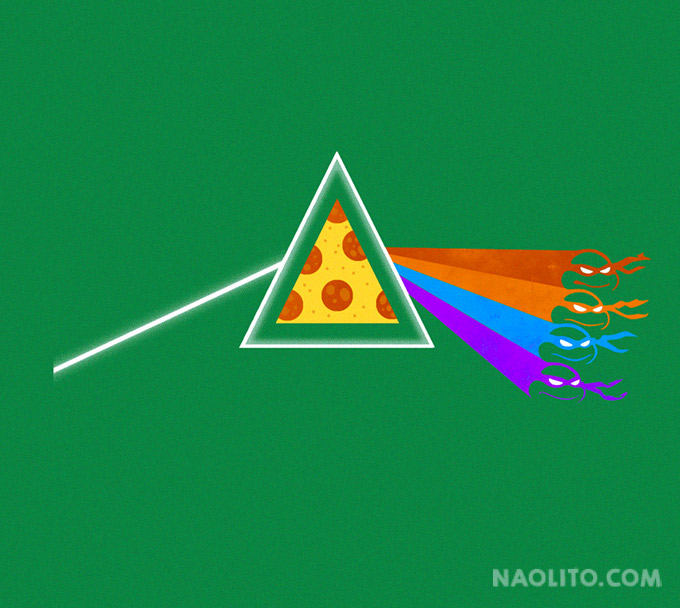 Dark Side of the Pizza (Green) by Naolito