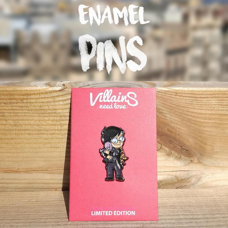 Villains Need Love Enamel Pins by Naolito