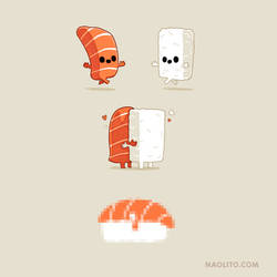 Sushi is Love by Naolito