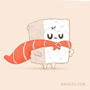 Sushi Heroe by Naolito