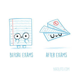 Before And After Exams
