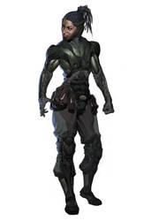 Jacqui design idea for Mortal Kombat XL. by Eleeron