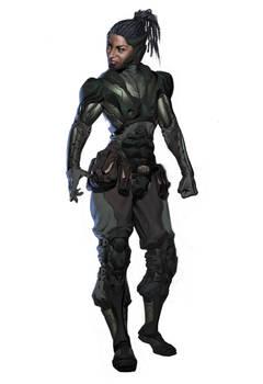 Jacqui design idea for Mortal Kombat XL.