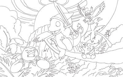 Coloring Page-Windfish Crossover