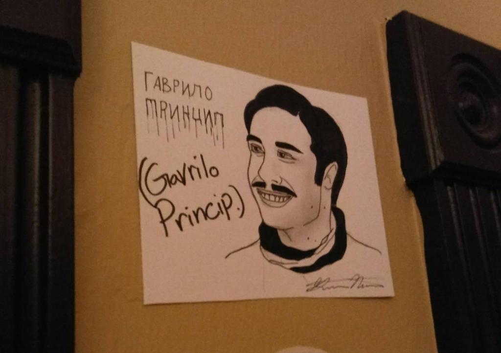 Gavrilo Princip on my wall  by Wolfyena