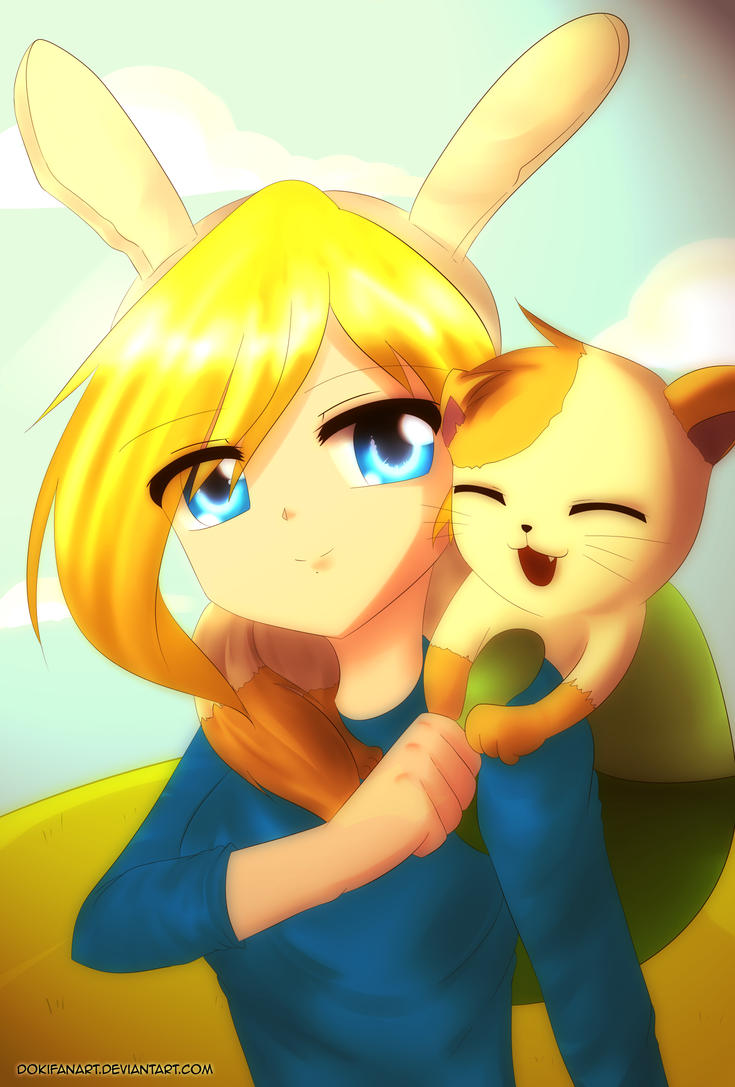 Adventure time - Fionna and Cake Anime Version by DokiFanArt