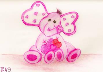 Cute Elephant Colored by ika44123