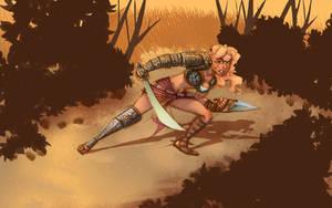 Una the Blade sketch by MBirkhofer