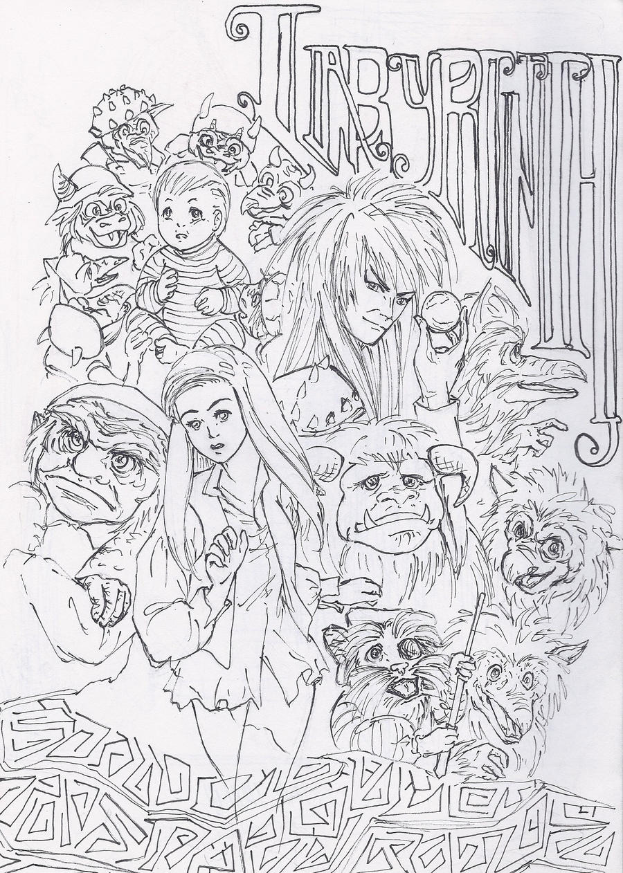 free labrynth coloring pages - photo#1