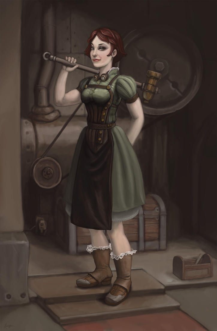 The Mechanic: Alexandra the Red by dinfet
