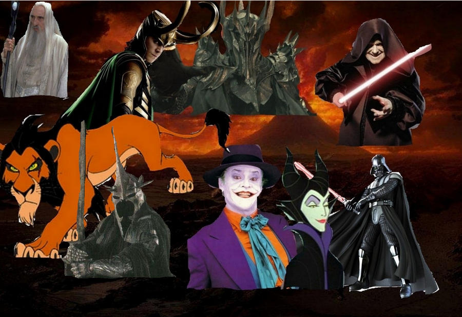 Mine favorites Movie Villains by BlackBatFan
