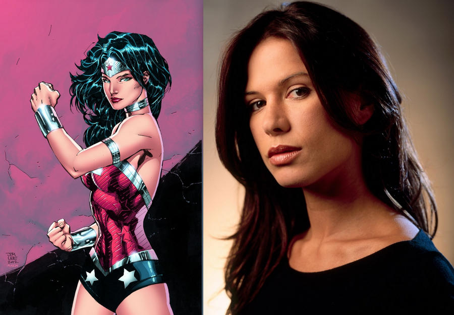Rhona Mitra as wonder woman