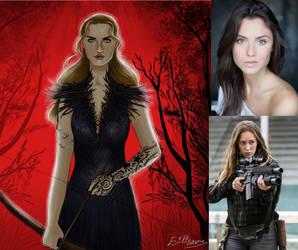 My cast for Feyre Archeron by BlackBatFan