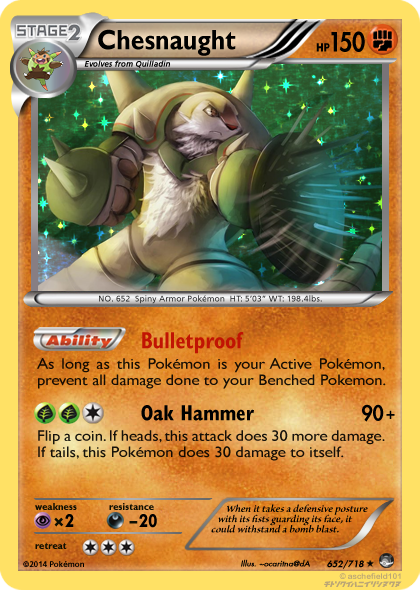 TheAlphaRanger Fake Cards: Chesnaught (Fighting) by ...