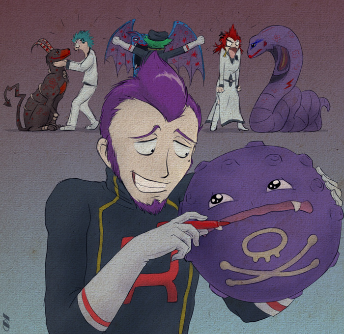 Team Rocket Executives By Kasdaye On Deviantart