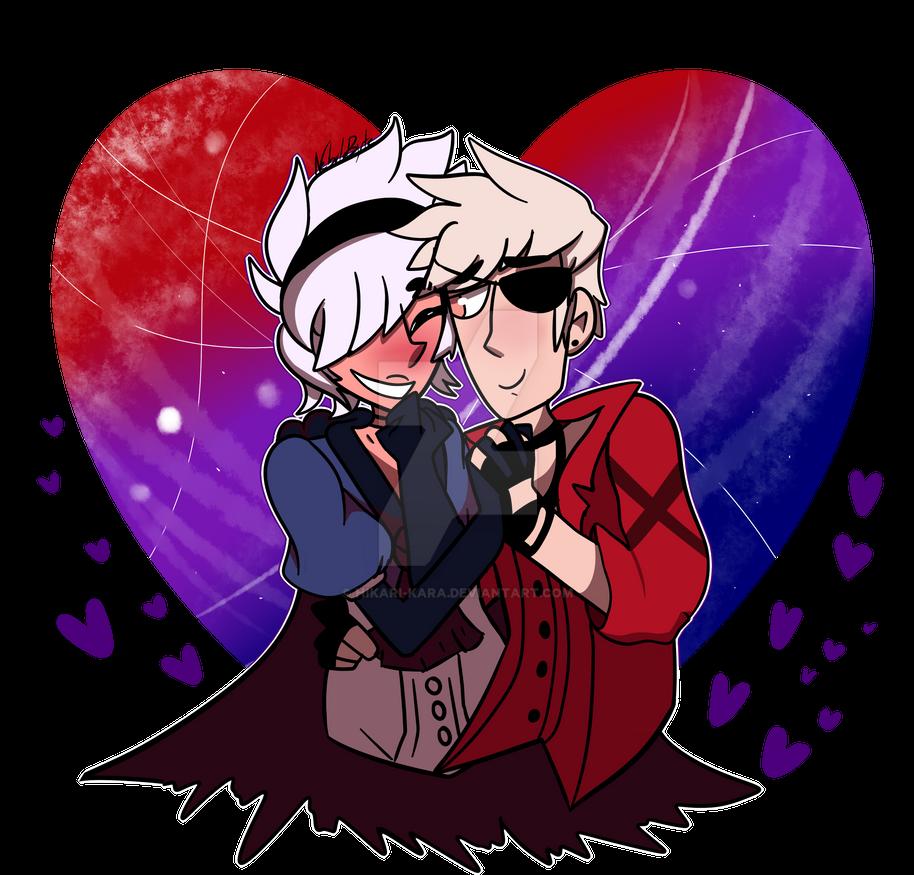 Art Trade_Valentine's Day except it's a bit early by Hikari-Kara
