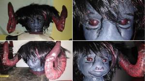 Baby Goat Demon Sculpture, Centerpiece