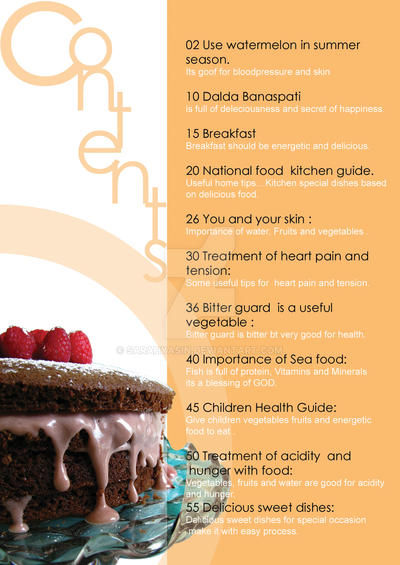 Food magazine content page 2 by SarahYasin on DeviantArtFood Magazine Table Of Contents