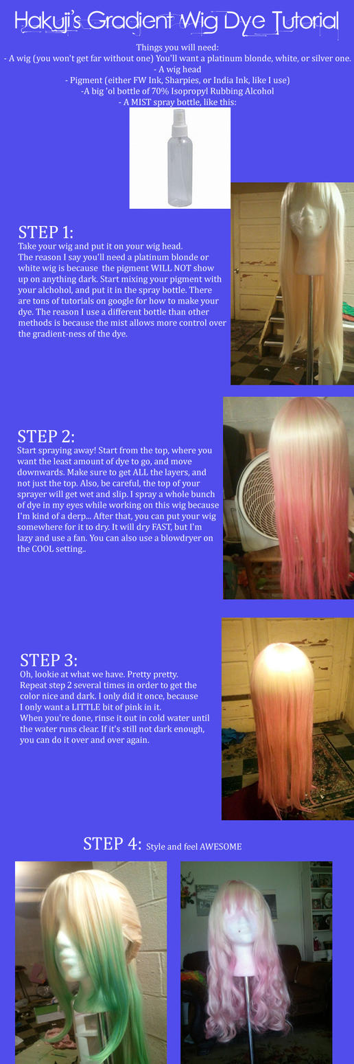 Gradient Dye Wig Tutorial by Hakuji