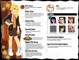Billi Gumb Monster Profile v.2 by TheDavyJones