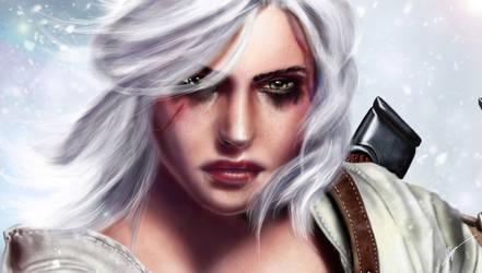 The Witcher 3: Ciri + Youtube speedpaint by RowenHebing