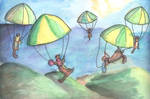 Parachuting Ferrets