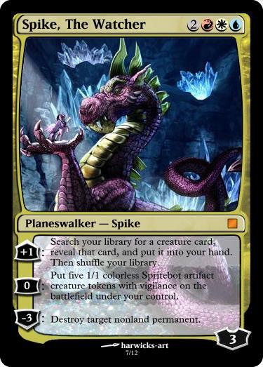 Spike The Watcher Planeswalker by UWoodward on DeviantArt Planeswalker Arcane Wizardry