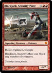 Blackjack Security Mare Magic Card