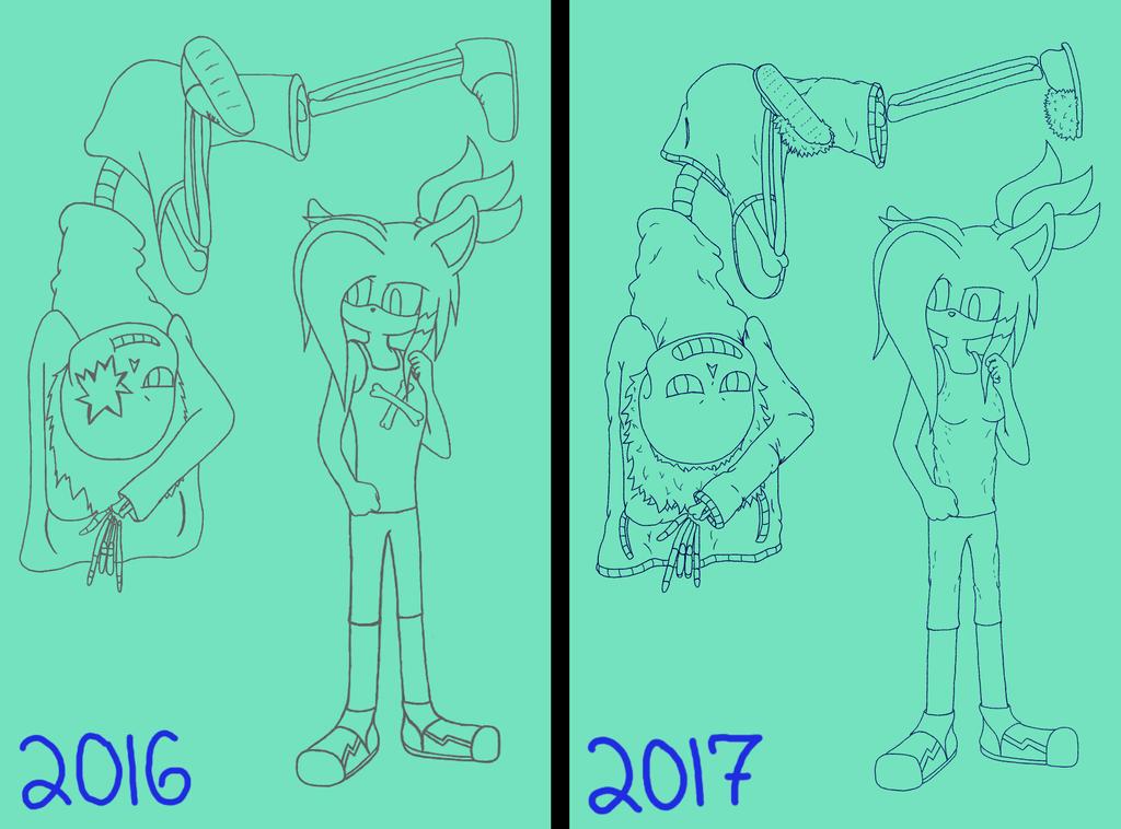 2016 vs 2017 by SamHedgehogLover