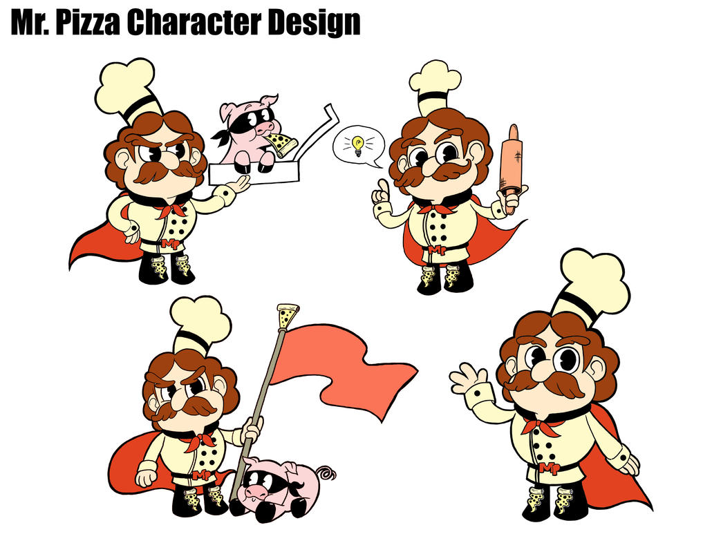 Character design mr pizza by hillaryhardison on deviantart for Mr art design