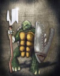 Metal Turtle Warrior