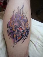 Flaming Skull by shivles