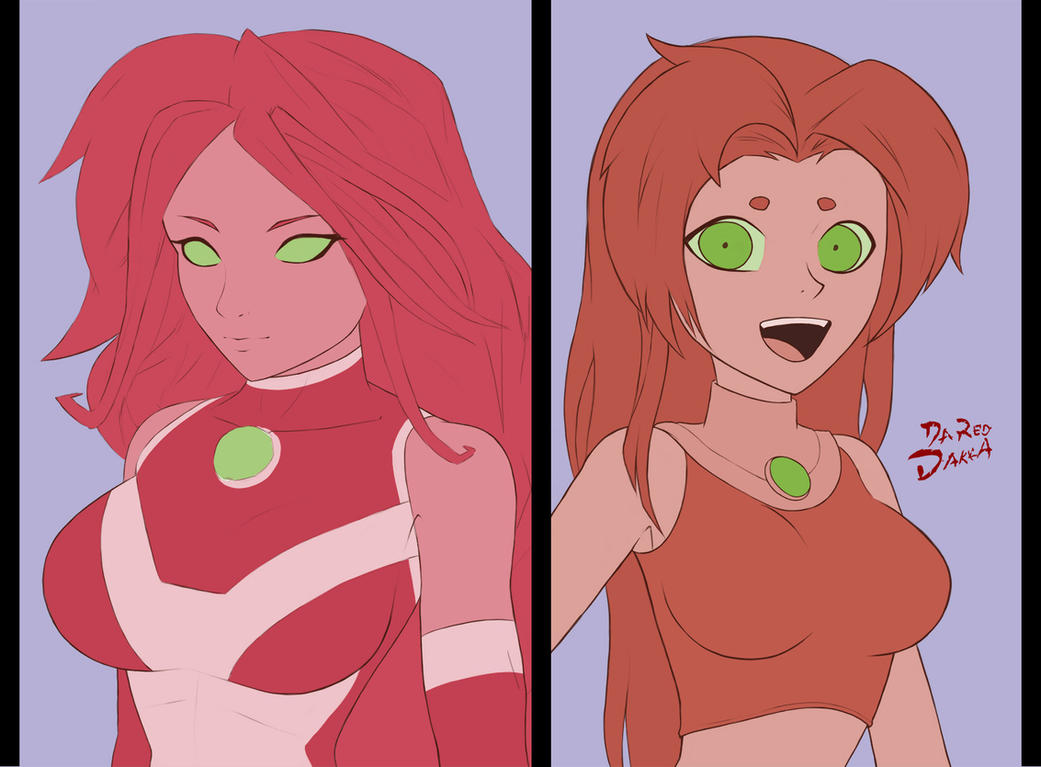 Starfire drawing practice by DaRedDakka