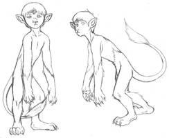 Chip - Werecat sketchy by purplelemon