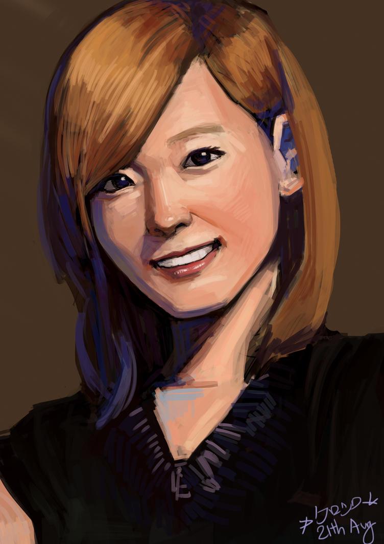 Taeyeon Portrait by XxKuroshiroXx