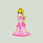 simple sprite peach by YoshiNoJas