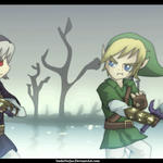 Dark Link vs Link by YoshiNoJas