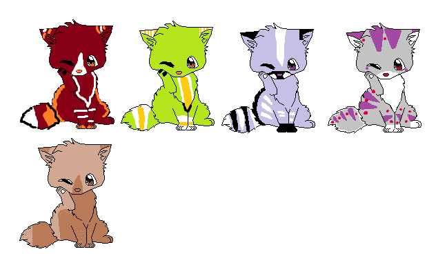 Kitty Cats Adoptables by naty15
