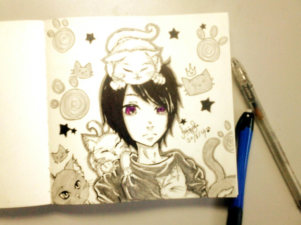 Sosuke Aoki - Cat Attack! by AmieeSha96