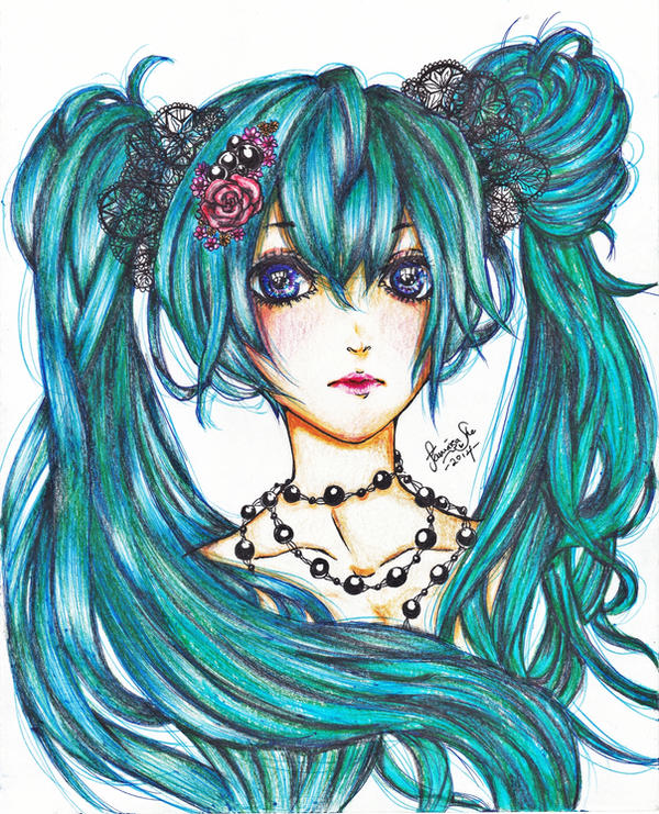 Hatsune Miku by AmieeSha96