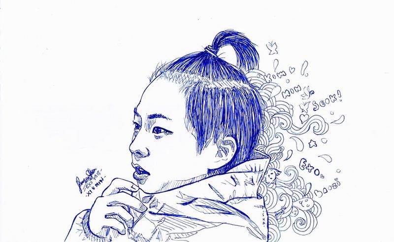 31. Ink Xiumin by AmieeSha96