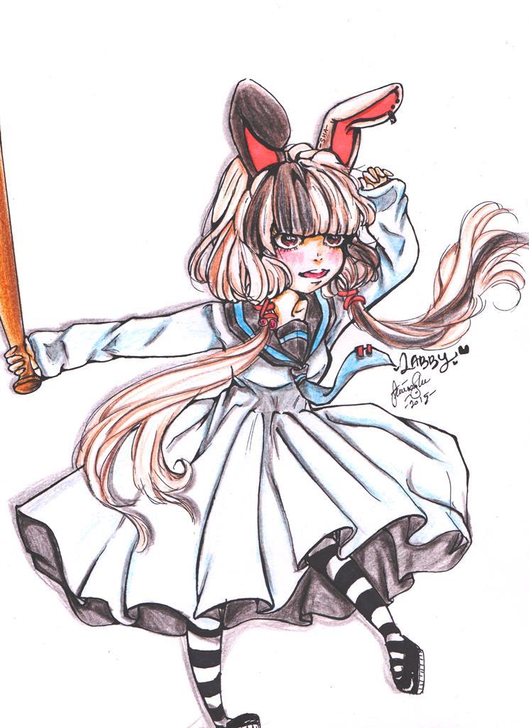 Labby (cream bunny) by AmieeSha96